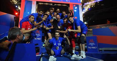O país ganhou do japão por 3 sets a 0 (25/20, 25/16 e 25/20) e soma agora quatro vitórias em cinco jogos. Liga das Nações de Vôlei Masculino 2018: Fase Final - Último dia: Rússia campeã - Surto Olímpico