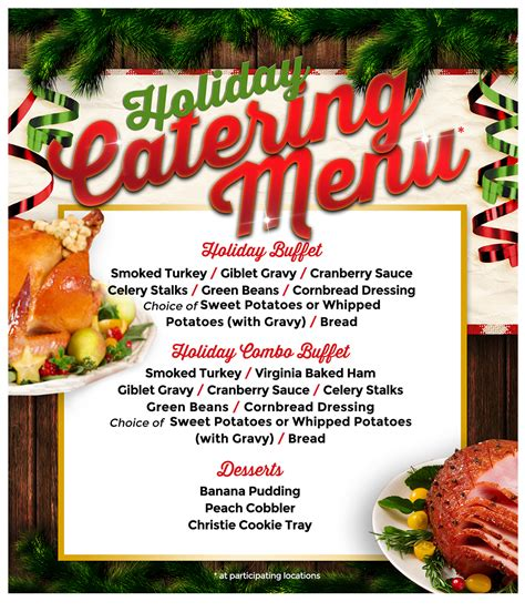 holiday catering menu bar b cutie
