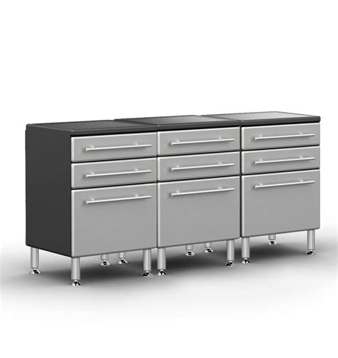 cabinet with drawers and shelves 3 drawer base cabinet kit ga 043kpc the garage