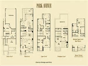 row home floor plans park avenue floorplans