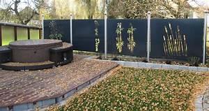 Terrasse Günstig Bauen : sichtschutz metall garten ~ Lizthompson.info Haus und Dekorationen