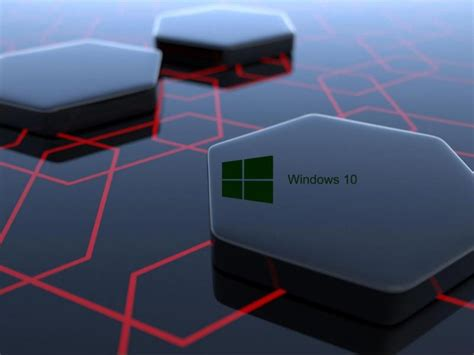 3d Wallpapers For Pc Windows 10 by Windows 10 Desktop Image With 3d Black Hexagonal