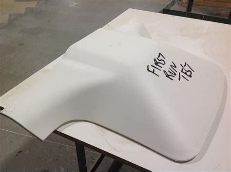 Corian Thermoforming Run Test Bend
