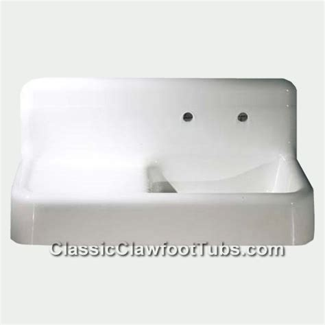 Top Mount Farmhouse Sink With Drainboard by 42 Quot Cast Iron Farmhouse Apron Sink W Drain Board