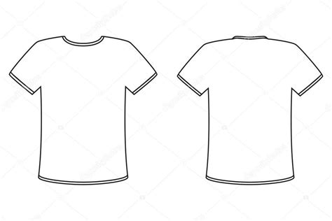 Tshirt Basic Template by Blank T Shirt Vector Design Template Simple Front And