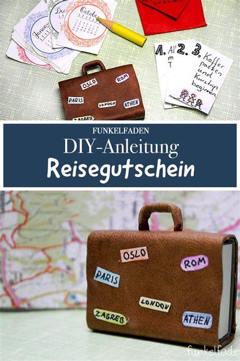 diy anleitung reisegutschein basten mit koffer