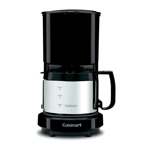 We look at the pros and cons, some of the best sellers on the market. Cuisinart 4-Cup Coffeemaker, Black, Brushed Stainless Carafe | HotelSupplyDepot.com