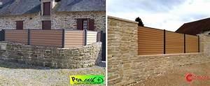 Cloture Sur Muret : cloture maison interesting cloture en beton with cloture ~ Carolinahurricanesstore.com Idées de Décoration