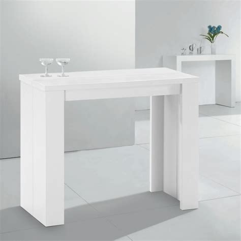 console extensible pas cher 3 rallonges blanche prisca table sejour cdisconprisca 1 blanc