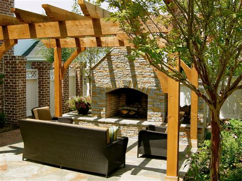 diy outdoor fireplace outdoor fireplace pergola