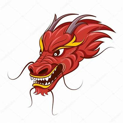 Dragon Chinese Head Vector Illustration Face Clipart