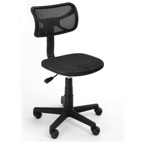 Swivel Office Chair Without Arms by 360 Degree Swivel Height Adjustment Easy Positioning