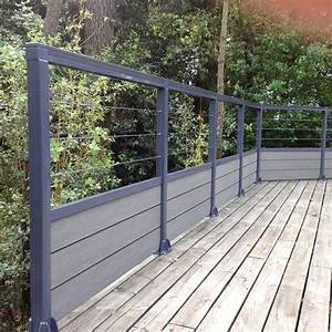 Garde Corp Terrasse : barriere terrasse pas cher avec garde corps terrasse bois ~ Melissatoandfro.com Idées de Décoration