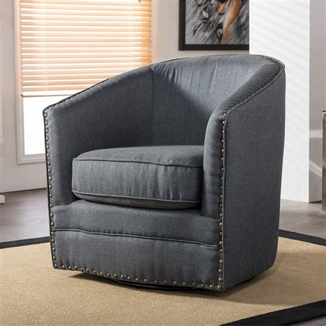 upholstered tub chairs baxton studio porter contemporary grey fabric upholstered