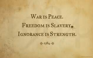 Image result for war is peace 1984