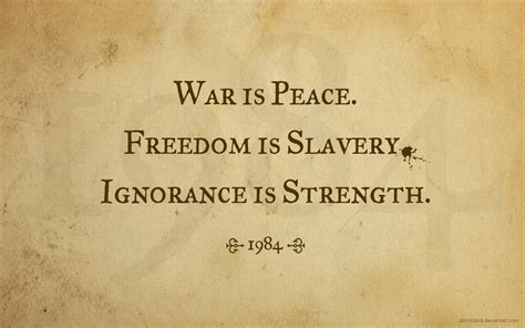 1984 peace war freedom ignorance quotes slavery quote george orwell deviantart strength yalta conference ministry brother english bliss want turn