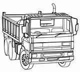 Truck Dump Coloring Pages Line Drawing Tonka Printable Template Garbage Construction Getdrawings Sketch Printables Getcoloringpages sketch template