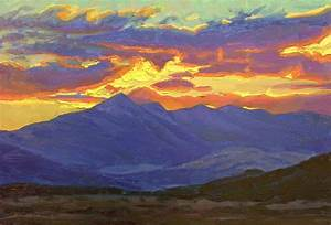 The Blogged Palette: Mountain Sunset