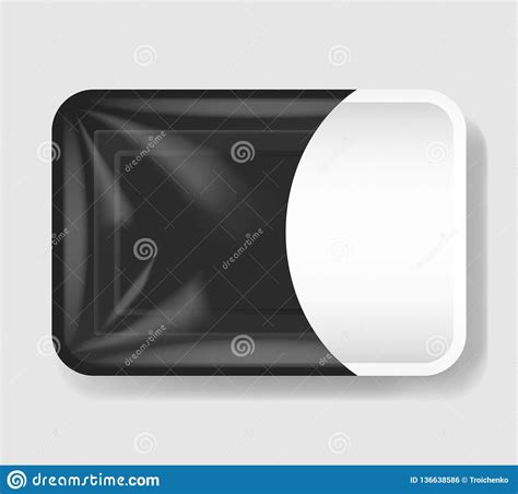Place the label however you want. Plastic Tray Container With Cellophane Cover. Mockup ...