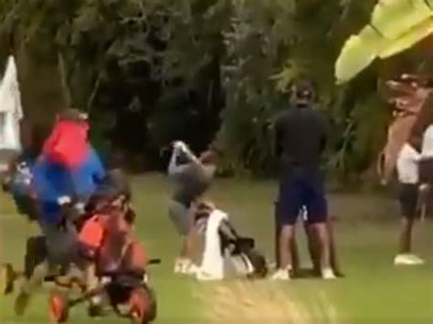 Tiger Woods: Rare footage of son Charlie in junior ...