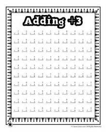 addition practice worksheet adding 3 math worksheet woo jr activities