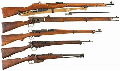 Bolt Action Rifles Military Five 2456 Antique