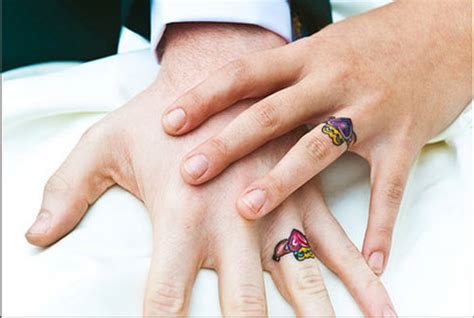35 ideas for wedding ring tattoos inked weddings