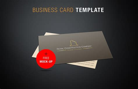 Free Business Card Mock Up Template