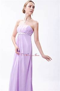 Beautiful Strapless Lilac Chiffon Skirt Cute Prom Dress