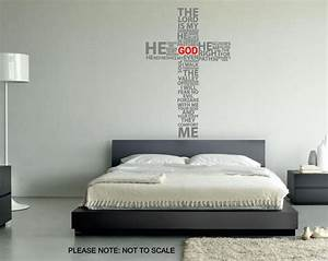 typography christian cross pray wall decal wall art With prayer wall decals for religious people