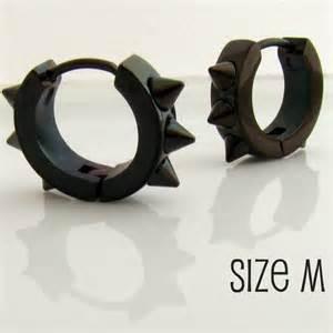 huggie hoop earrings mens earrings black hoop earrings for men or rockers