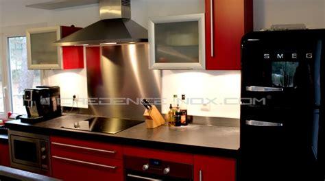 plan de travail cuisine inox sur mesure décoration cuisine
