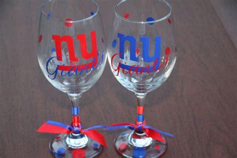 york giants glassware sports glassware football