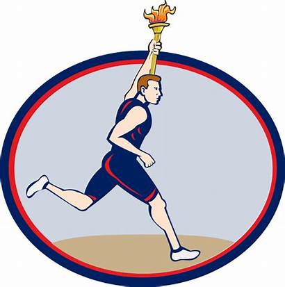 Olympic Torch Olympics Clip Clipart Runner Games