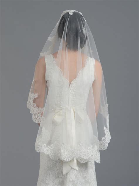 Bridal Mantilla Veil Elbowfingertip V032n Ivorywhite