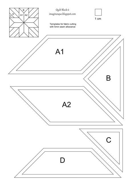 imaginesque quilt block  pattern  templates