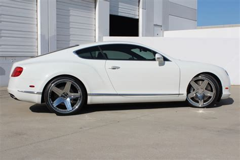 bentley continental gt  chrome wheels giovanna luxury