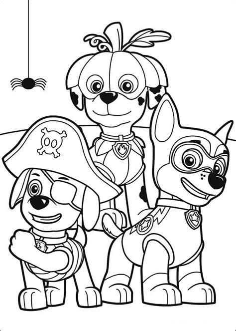 dibujos  imprimir patrulla canina