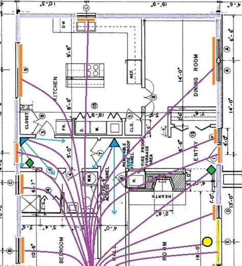 Home Security Wiring Diagram by Home Alarm Wiring For A New House