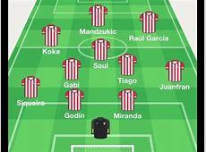 Alineación Atlético de Madrid para el choque contra el