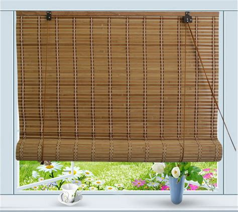bamboo roll up window blind sun shade w24 quot x h72 quot ebay