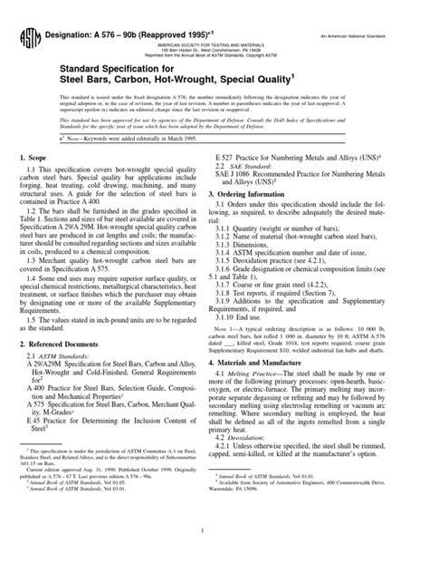 ASTM A 576 | Steel | Chemical Substances