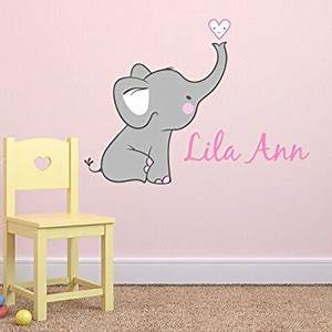 Elephant wall stickers for nursery peenmediacom for Funny elephant wall decals for nursery