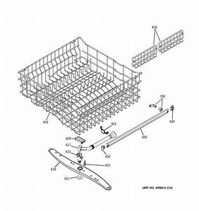 Upper Rack Assembly Diagram  U0026 Parts List For Model