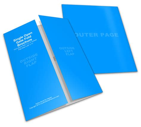 Gate Fold Brochure Mockup Cover Actions Premium 11x17 Gate Fold Brochure Mockup Cover Actions Premium