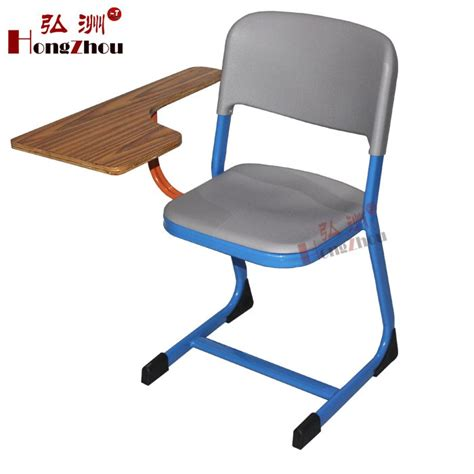 classroom chair with writing pad plastic pp shell with