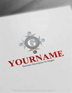free logo maker group initials logo template With initial logo maker