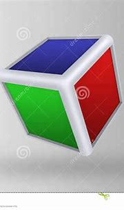 3d cube on gray background stock illustration ...