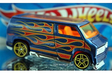 hot wheels hw flames custom  dodge van ebay