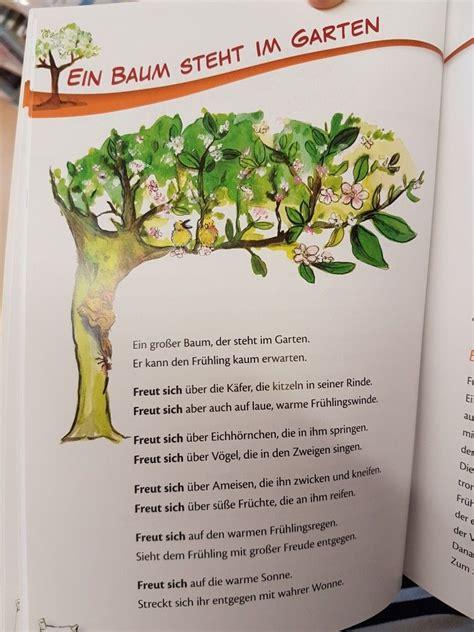 Herbst Garten Gedicht by Ein Baum Steht Im Garten Fr 252 Hling Gedicht Kita